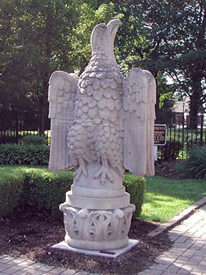 Left side eagle restored to once again stand guard.