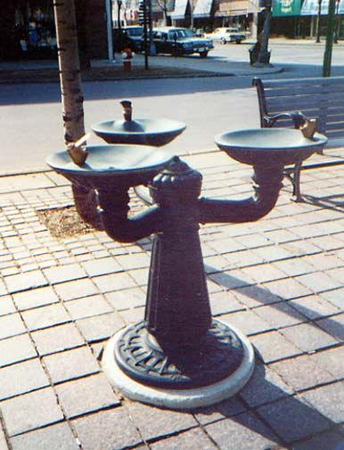 Village drinking fountain